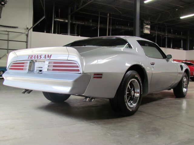 1976 Silver Pontiac Trans Am Driver Quality American Classic Sport Coupe with Red interior