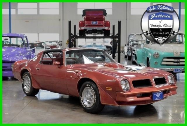1976 trans am 6 6l ws4 4 speed manual firethorn red t tops. Black Bedroom Furniture Sets. Home Design Ideas