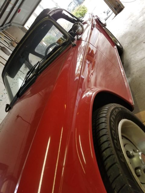 1976 Red Triumph TR-6 Convertible with Black interior