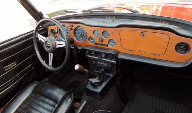 1976 Triumph Tr6  Red With Black Interior  Overdrive  Excellent Condition    For Sale  Photos