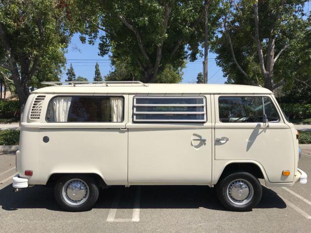 22a0708084 1976 VW Westfalia Tin Top Hardtop Camper CA Eldery Owned Bus Sold   No  Reserve!