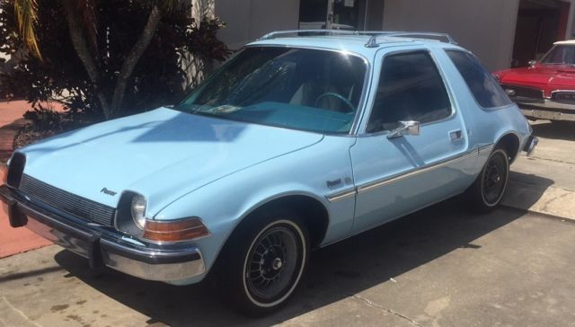 1977 Blue AMC Pacer Coupe with Blue interior