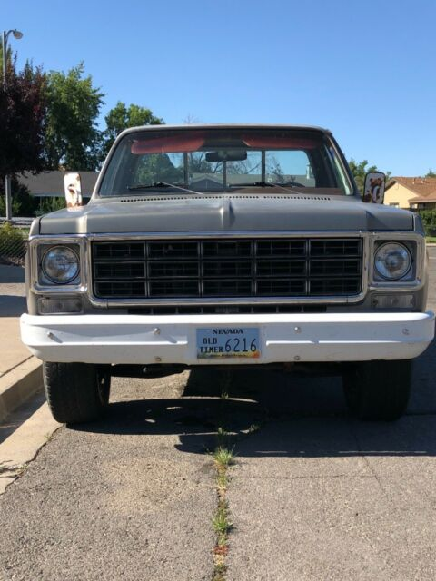 1977 Gray Chevrolet Other Pickups C20 Fleet side with Red interior