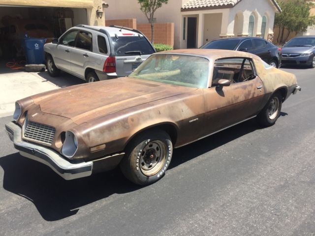 1977 Chevrolet Camaro 77 Chevy one owner low miles barn find 350 4