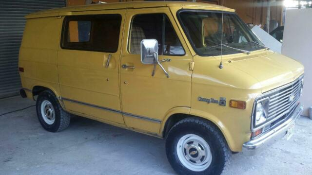 1977 Chevy Short Van G20 G10 Rust Free Arizona Truck Project 350 Automatic For Sale Photos Technical Specifications Description