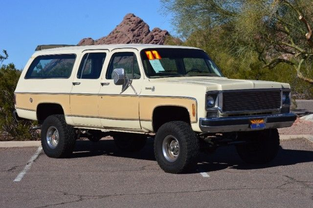 1977 chevy suburban 4x4 4 speed bug out special for sale photos. Black Bedroom Furniture Sets. Home Design Ideas