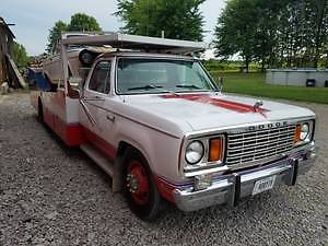 1977 Dodge D300 Hodges Hauler Flat Bed Truck With Wench