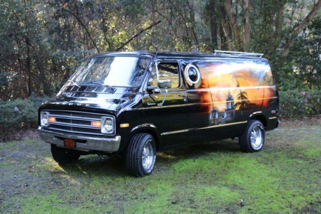 1977 Dodge Vintage Conversion Van With Eagles Hotel