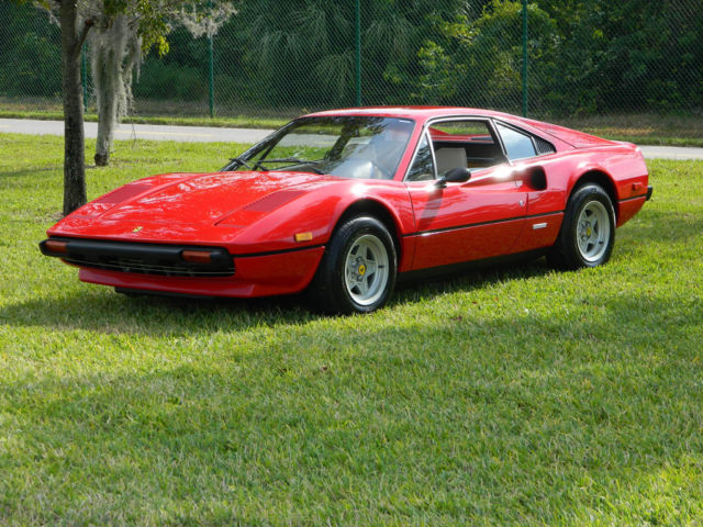 1977 Ferrari 308 RED 308 GTB BERLINETTA US CARBURETED