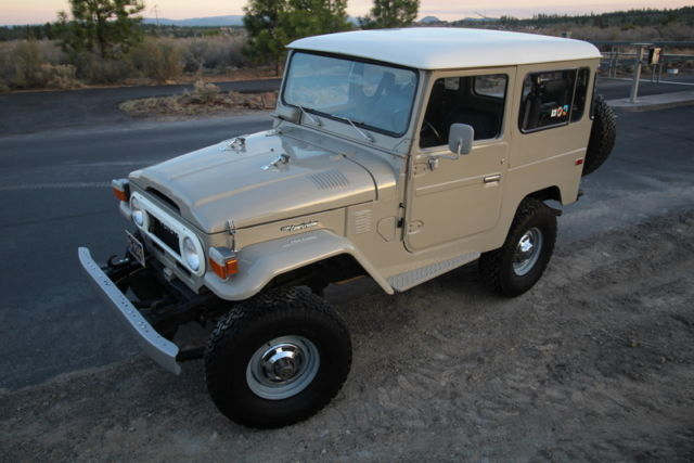 1977 Fj40 Beige Beauty With Power Steering For Sale Photos