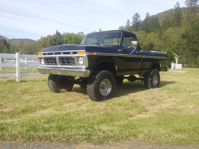 1977 Ford F-150 Ranger Standard Cab Pickup 2-Door