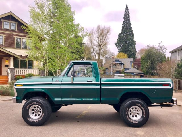 1977 Ford F-150 F150 CUSTOM 4X4 SHORT BED