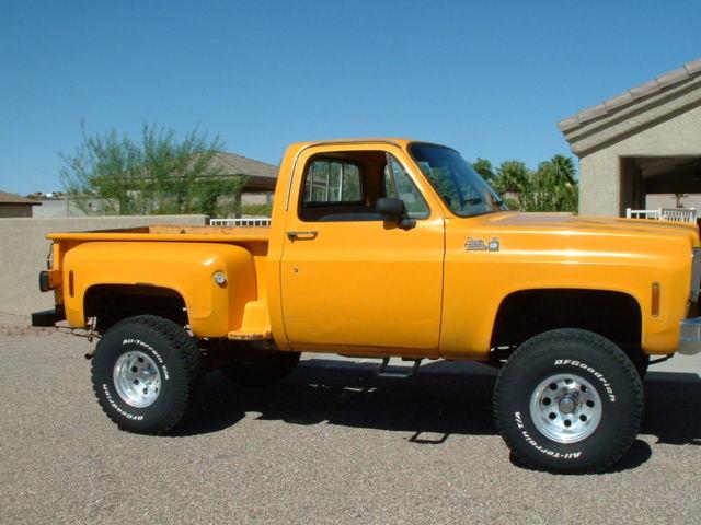 1977 Gmc 4x4 K 15 Stepside Truck Rare Arizona Truck For