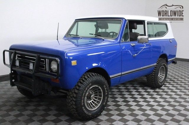 1977 International Harvester Scout SHOW QUALITY PAINT. V8. 4 SPEED.