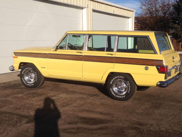 1977 jeep wagoneer 401 v 8 20k original mile survivor for sale photos technical specifications. Black Bedroom Furniture Sets. Home Design Ideas