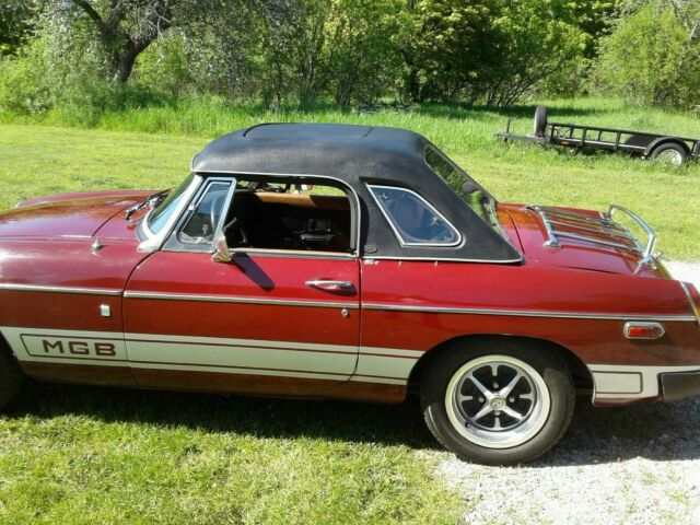 1977 MGB with convertible top, tonneau cover and sunroof