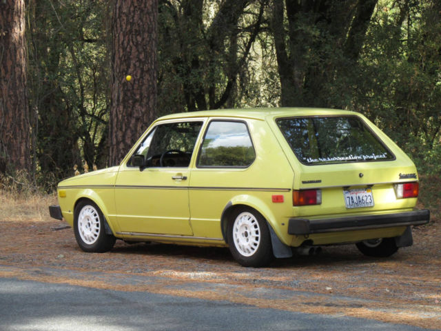 1977 mk1 turbo diesel vw rabbit 2 door sunroof for sale photos technical specifications. Black Bedroom Furniture Sets. Home Design Ideas