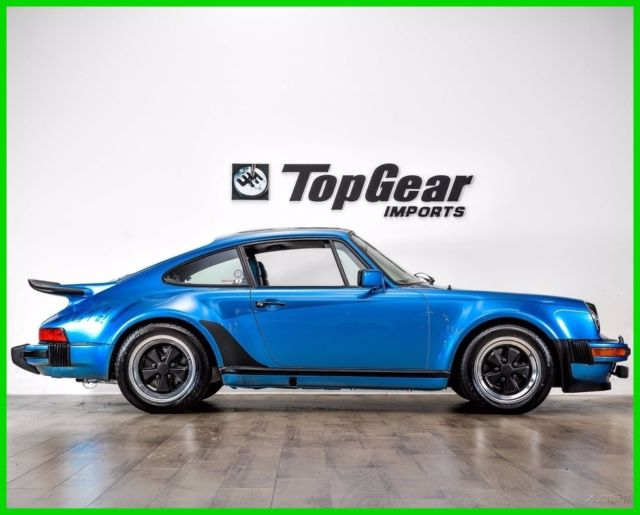 1977 Porsche 911 Blue Leather