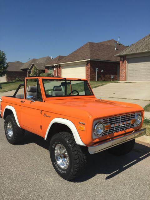 1977 Premium Orange Paint Ford Bronco Automatic Low Miles Rebuilt