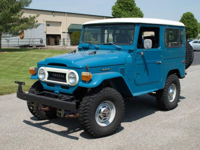 1977 toyota fj40 land cruiser manual transmission blue 6. Black Bedroom Furniture Sets. Home Design Ideas