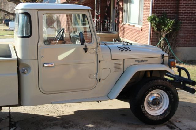 1977 toyota fj45 landcruiser pickup great shape for sale. Black Bedroom Furniture Sets. Home Design Ideas
