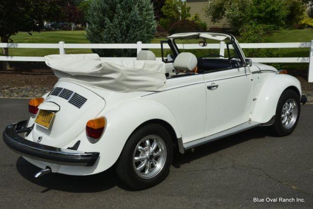 volkswagen beetle triple white rare champagne edition convertible vw bug  sale