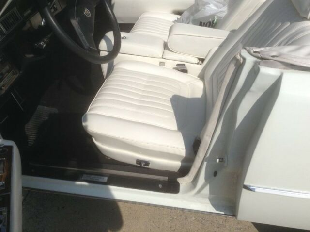1978 White Cadillac Seville Milan Convertible with White interior