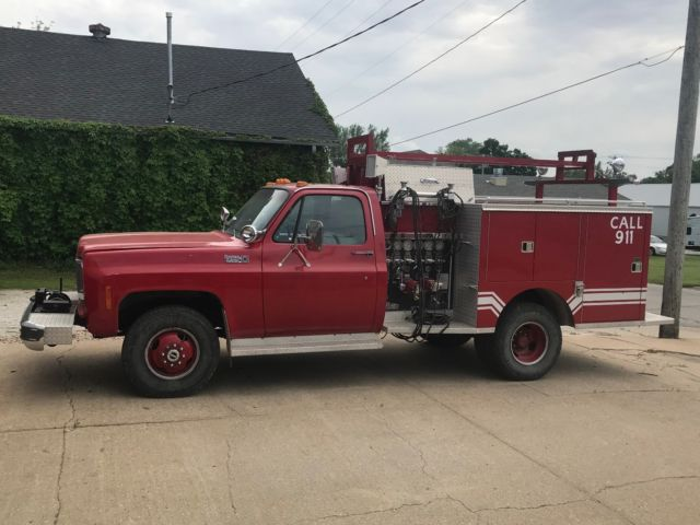1978 Chevrolet K30 Mini Attack Pumper Fire Truck 454 TH400