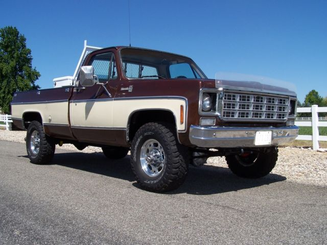1978 chevy 3 4 ton gmc k20 4x4 truck 99 9 rust free 1 owner all original for sale photos. Black Bedroom Furniture Sets. Home Design Ideas