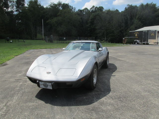 1978 Chevrolet Corvette Silver and Brown 25th Aniversery collors