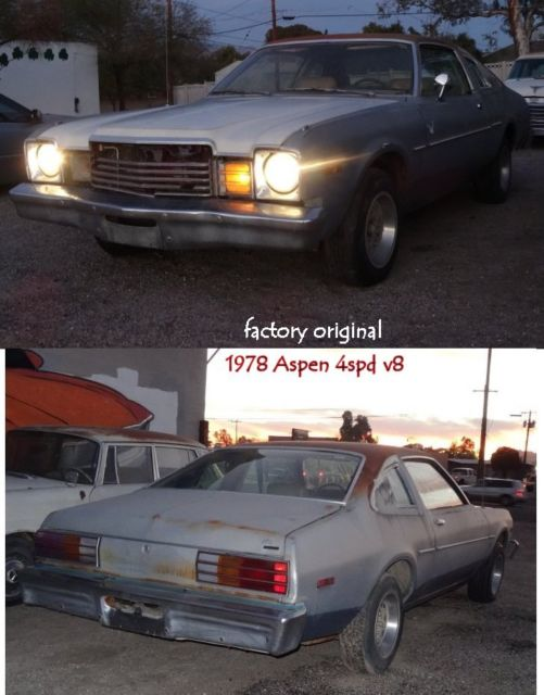 1978 Dodge Charger Aspen V8 w/ 4 spd