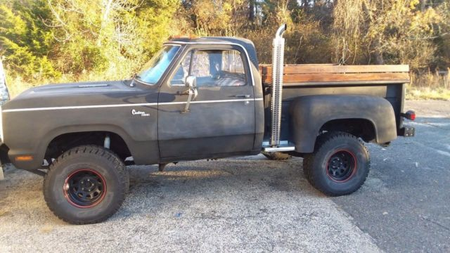 1978 Black Dodge Power Wagon D150 Standard Cab Pickup with Black interior