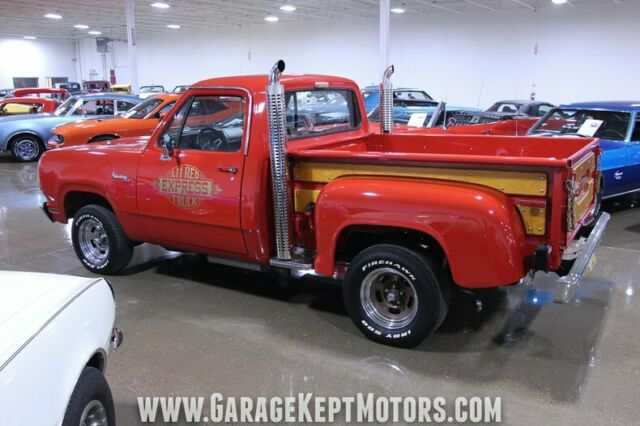 1978 Red Dodge Other Pickups Pickup Truck with Red interior