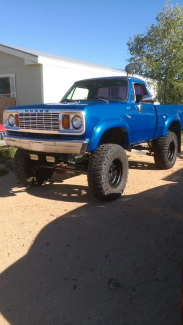 1978 Dodge Powerwagon Lifted Short Bed 4x4 For Sale Photos