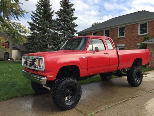 1978 Dodge W200 Power Wagon 4x4 Club Cab Lifted 7 2 L