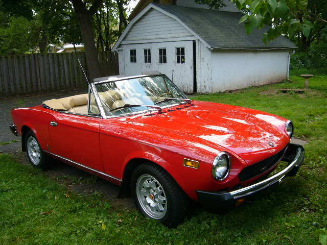 1978 Fiat 124 Spider Convertible Very Good Condition