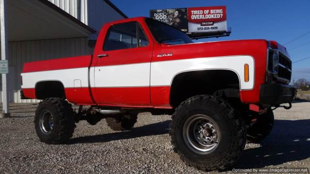 1978 Gmc Scottsdale Short Bed 4wd Lifted For Sale Photos