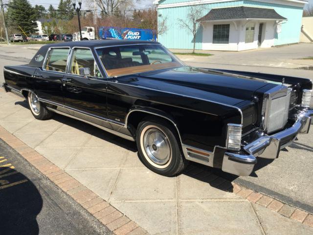 1978 Lincoln Continental Black W Rare Interior Color For Sale