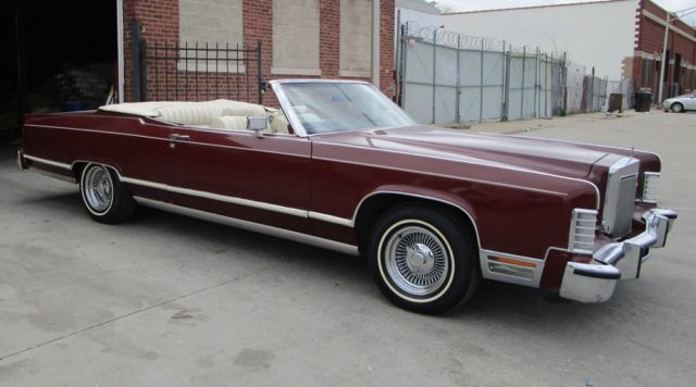 1978 Lincoln town coupe convertible convertible