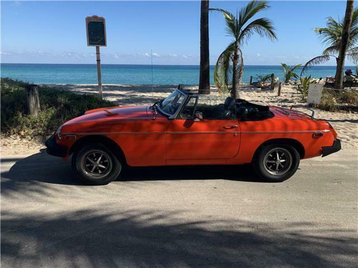 1978 Red MG MGB Convertible with Black interior