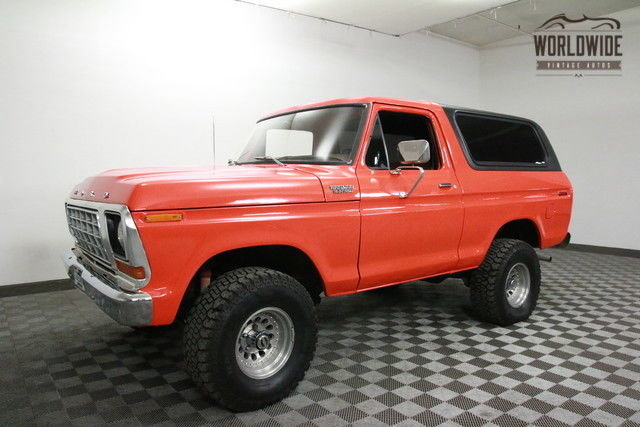 1978 Ford Bronco CUSTOM. RESTORED. RARE V8 CONVERTIBLE!