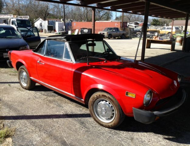 1978 Vintage Fiat Spider Red Convertible