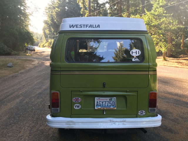 1978 Green Volkswagen Bus/Vanagon Bus Vanagon Van Camper with Green interior