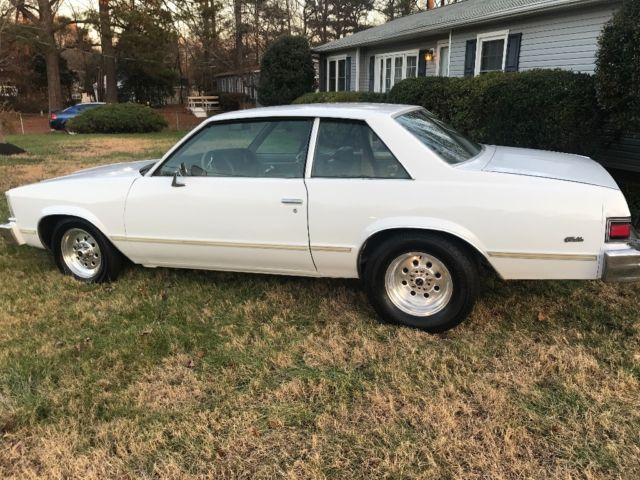 1979 White Chevrolet Malibu Coupe with Green interior