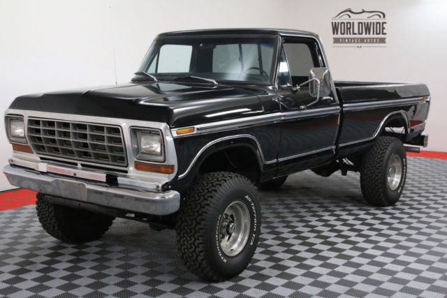 1979 Ford F-250 RANGER XLT HIGH BOY 4X4 RARE BLACK ON BLACK