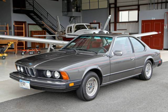 1979 Bmw 633csi Coupe E24 1 Owner 99k Miles Manual Anthracite Grey Red For Sale Photos