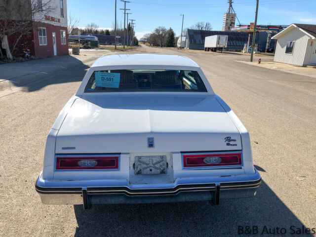 1979 White Buick Riviera S Coupe with Tan interior