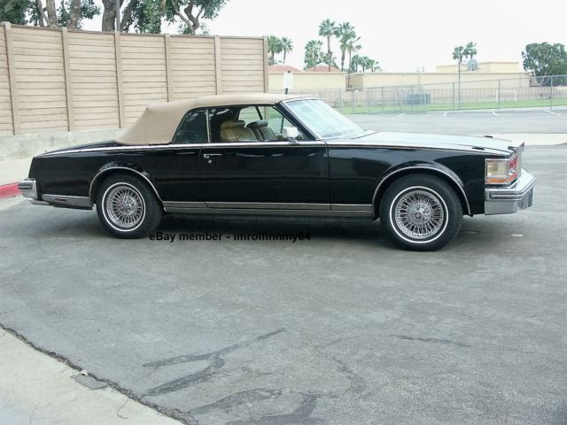 1979 cadillac seville san remo convertible royalty owned 16k mi documented for sale. Black Bedroom Furniture Sets. Home Design Ideas