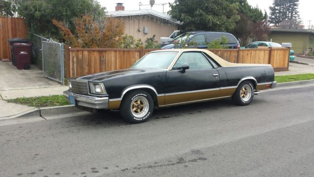 1979 Chevrolet El Camino SS CLONE BLACK NIGHT