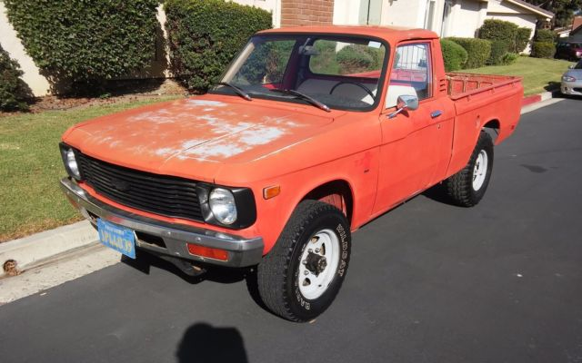 1979 Chevy Luv 4x4 Short Bed 18l 4 Cyl 4 Spd 99 Rust Free 91000